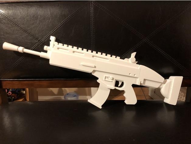 modelli 3d armi fortnite stampa 3d scar