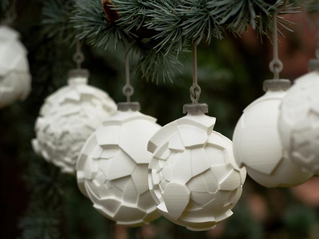 Decorazioni natalizie 3D, PALLINE
