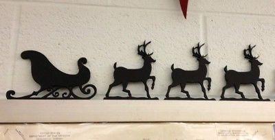 Decorazioni natalizie: slitta con renne