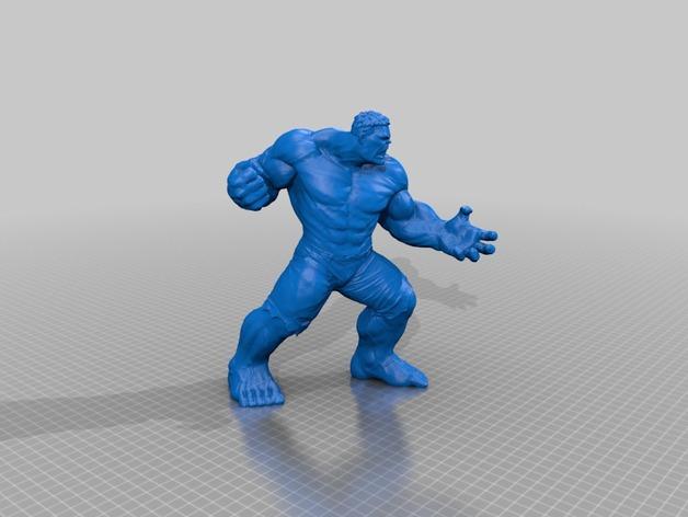 Marvel, modello per la stampa 3D di Hulk