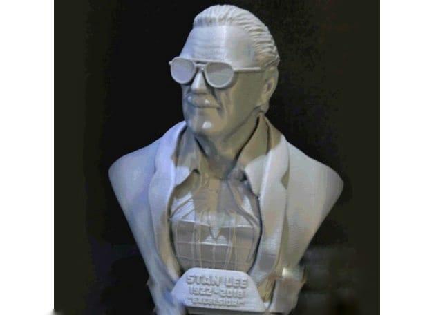 Marvel, modello stampa 3D del busto di Stan Lee