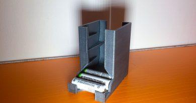 Tutorial stampa 3d portapile ricaricabili da modello 3d su Thingiverse