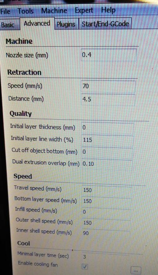 portapile ricaricabili stampa 3d tutorial parametri cura 2