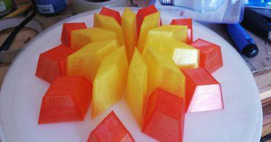 pla stampa 3d azurefilm rosso giallo